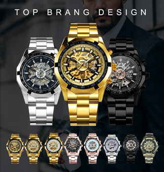 Winner Watch Men Skeleton Automatic Mechanical Watch Gold Skeleton Vintage Man Watch Mens FORSINING Watch Top Brand Luxury 2