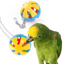 Toy Bird 1-Parrot Bell Pet-Supplies Beak-Ball Hanging Bird-Grinding Plastic Ball-Toy