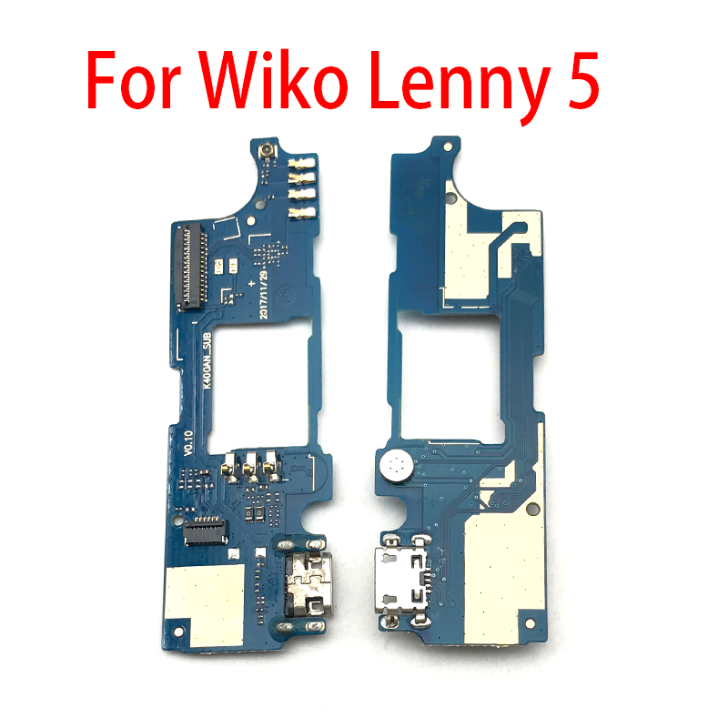 USB Charging Port Mic Microphone Dock Connector Board Flex Cable Repair Parts For Wiko Lenny 5 Lenny5