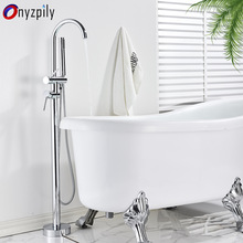 Faucet Mixer Standing Shower Chrome-Bathtub Bathroom Onyzpily with Flexible Hand-Tap
