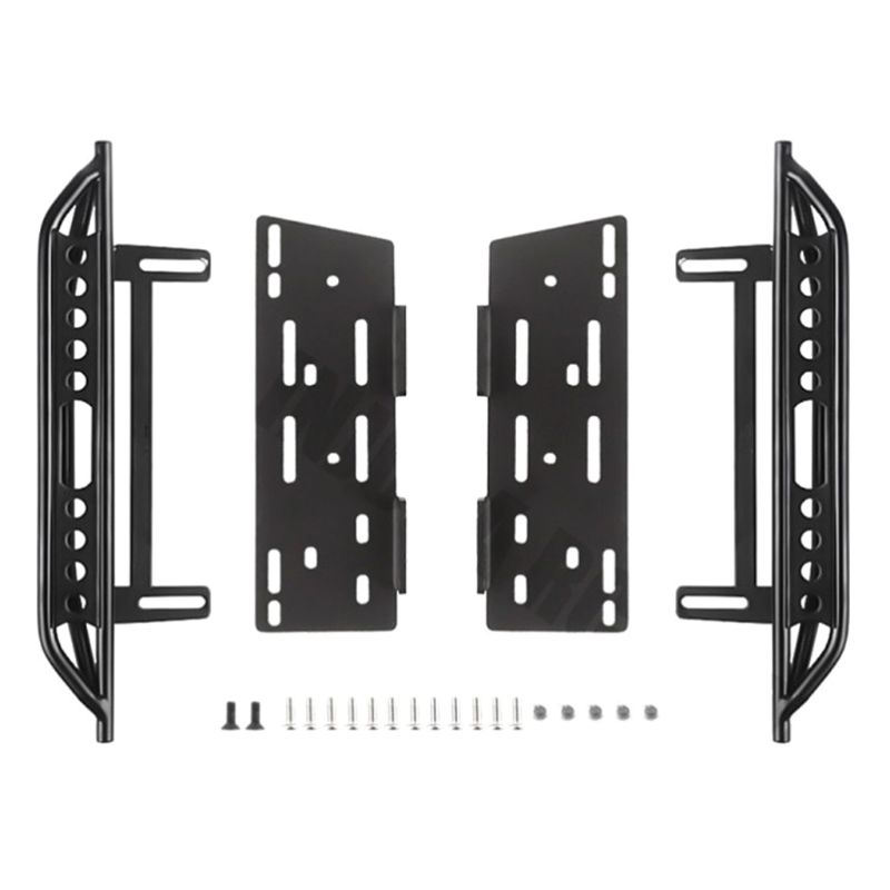 1pair Metal Side Pedal and Receiver Box For 1/10 Jeep Cherokee Wrangler Axial Scx10 90046 90047 90048 95AEParts & Accessories   -