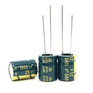 Image 1 - 20pcs/lot high frequency low impedance 25v 1000uf 8*16MM aluminum electrolytic capacitor 1000uf 25v 25V1000uf 20%