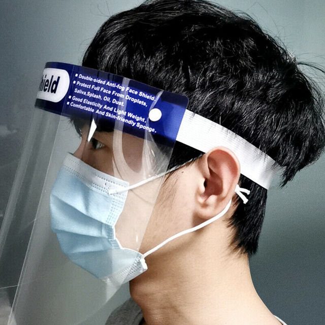 Safety Clear Grinding Face Shield Screen Mask Visor Eye Protection Mask-Transparent Prevent Sneezing Saliva And Dust 2