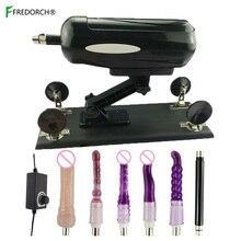Fredorch 6 dildos anexos máquina do amor versão atualizada poderoso motor máquina sexo brinquedos máquina sexo com vibrador anal
