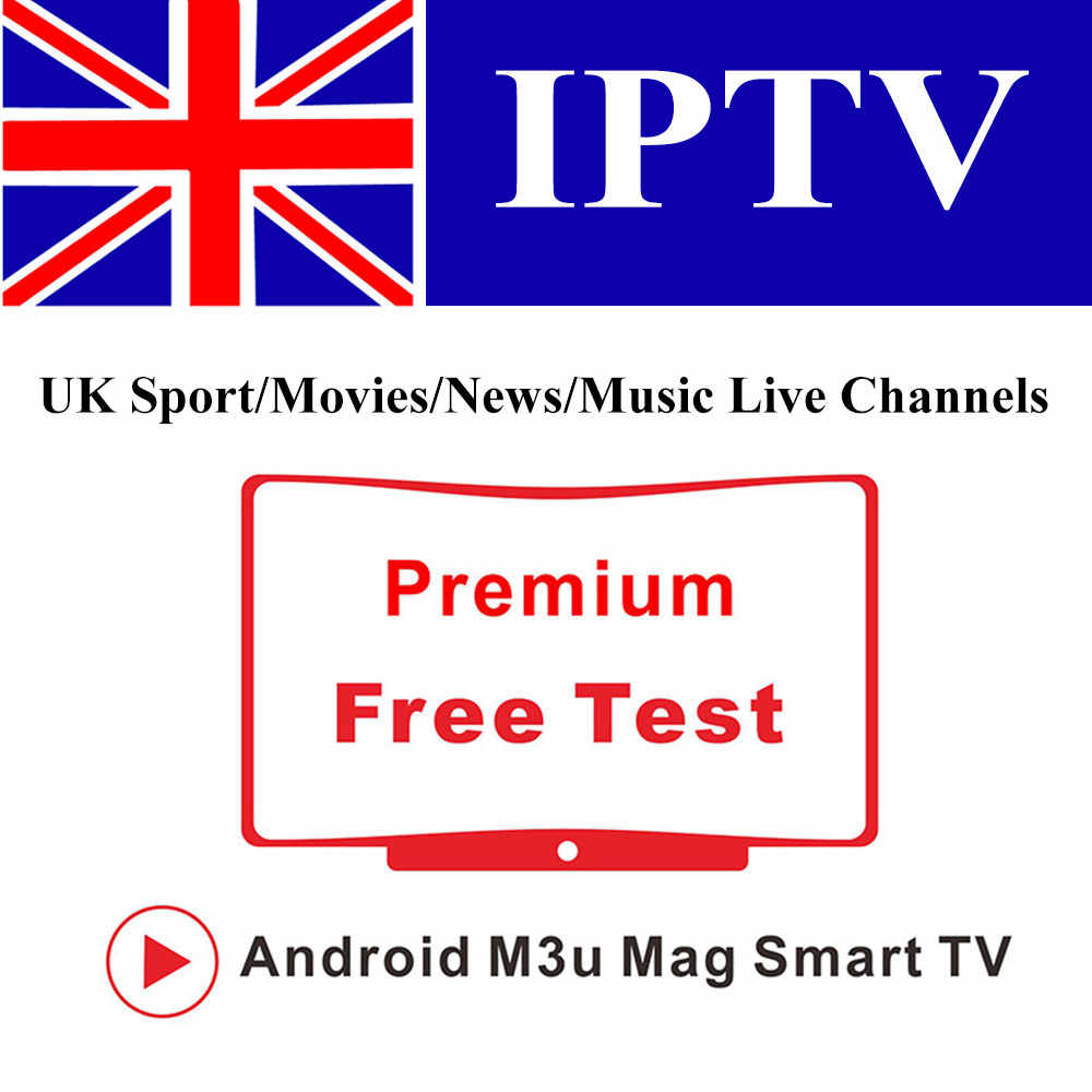 1 an Europe IPTV M3U abonnement UK anglais TV Sports chaînes pour VLC IPTV Smarters Smart TV BOX Android IOS Smartphone PC