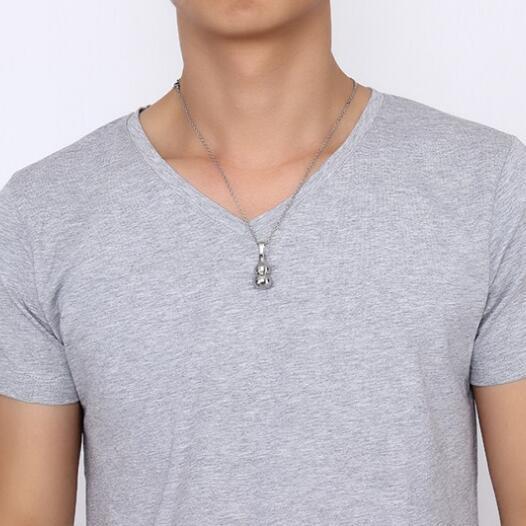 Ожерелье унисекс из нержавеющей стали в форме тыквы