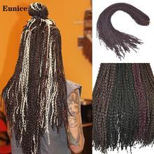 Длинные Синтетические крючком коробки косы тонкий твист Zizi коса коричневый серый бордовый наращивание волос 25-32 корней/упаковка
