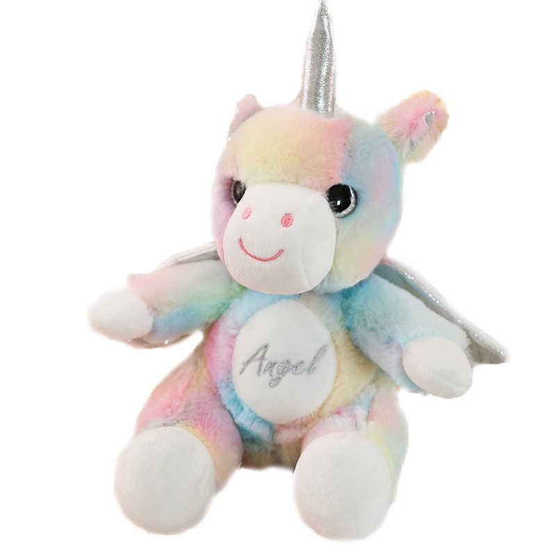 Novo Sonho Anjo Unicórnio Conforto Do Bebê de Brinquedo de Pelúcia Brinquedo de Presente de Aniversário das Crianças Decoração do Quarto