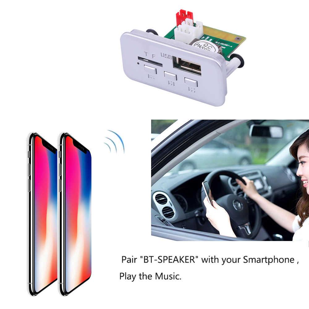 Kebidu Mini 12V Mp3 decodificador Bordo Painel Módulo de Cartão TF FM Sem Fio Bluetooth 5.0 Handsfree Rádio Do Carro 3.5 milímetros USB Leitor de Música AUX