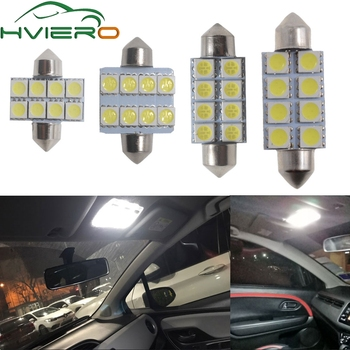 цена на 2X White Bright 31MM 36MM 39MM 41MM 8 SMD 5050 Parking LED Auto Led C5W C10W Interior Festoon Dome Light Reading Lamp Door Bulb