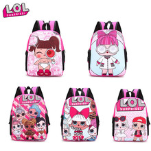 Brand New LOL Surprise Dolls Children school Backpack Fresh Cute waterproof Bag for kindergarten girls Child birthday Gifts