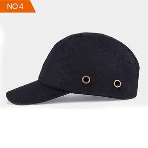 Image 4 - 安全バンプキャップ職場建設現場帽子と通気性ハード帽子ヘッドヘルメット反射ストライプ軽量