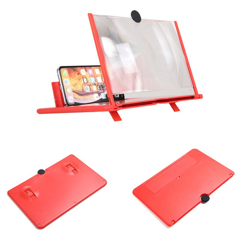 <font><b>12</b></font> inch Mobile Phone <font><b>3D</b></font> Screen Video Magnifier Curved Enlarged Smartphone Movie Amplifying Projector Stand Bracket new image