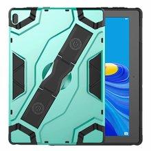כבד החובה הגנה Tablet מקרה עבור Lenovo Tab E10 TB X104F TB X104L 10.1 אינץ Stand כיסוי רצועת יד עבור Lenovo Coque + עט