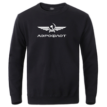 Aeroflot CCCP Civil Aviation Ussr Russia Airforce Sweatshirt Hoodies Mens Winter Pullover Tracksuit Male Casual Loose Streetwear