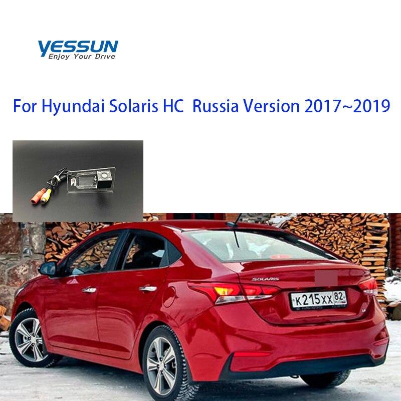 Hyundai Solaris Sedan HC rusya 2017 2018 2019 arka görüş kamerası park sistemi/plaka lambası kamera veya konut montaj