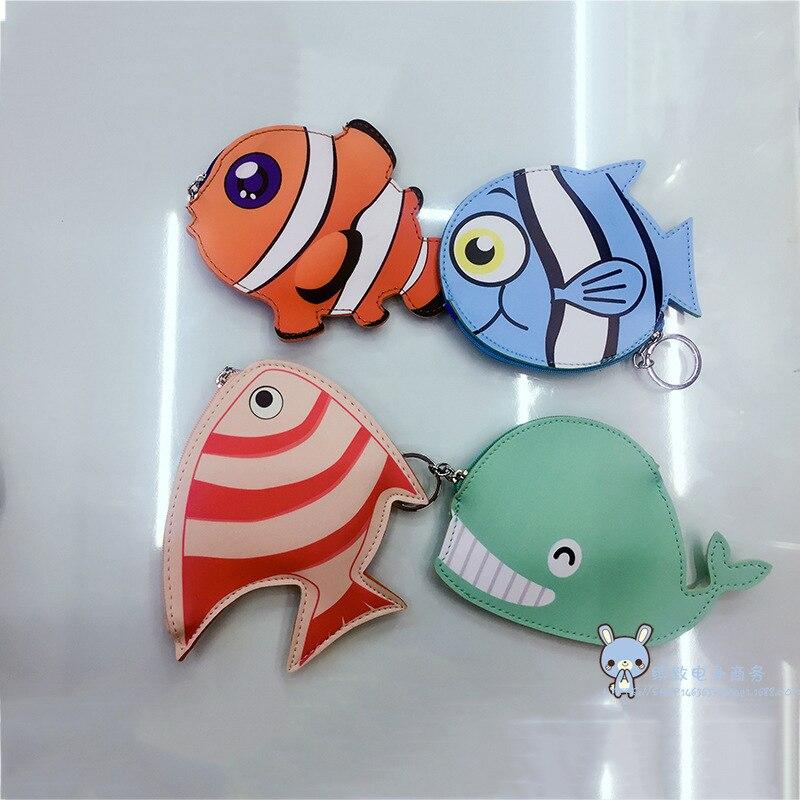 Creative Leather Cartoon Change Purse Keychain Bag Octopus Animal Modeling Bag CHILDREN'S Bag Storage Coin Pocket