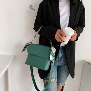Image 4 - Wild Texture Crossbody Bags Womens Handbag The New Fashion PU Womens Solid Color Chain Shoulder Bags