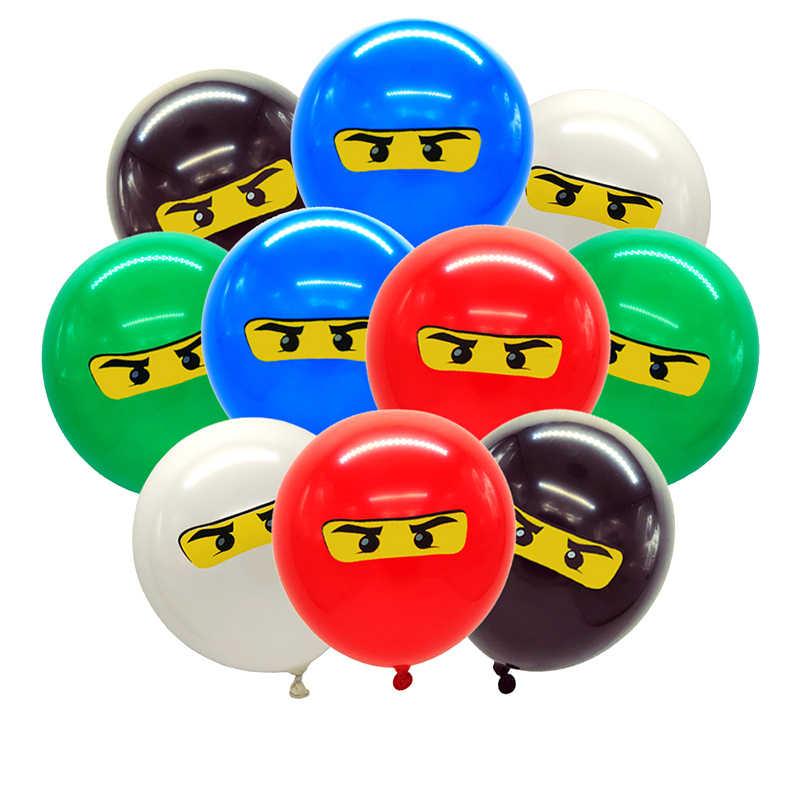 Legoing ninjaguing موضوع الطرف الديكور النينجا المائدة أكواب ورقية لوحات القبعات استحمام الطفل راية الاطفال حفلة عيد ميلاد لوازم