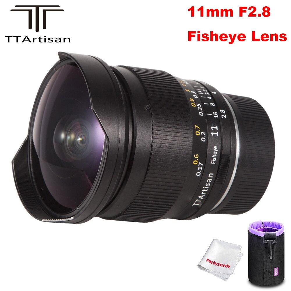 TTArtisan Full Fame 11mm F2.8 Ultra Wide Fisheye Manual Lens E mount for Sony A7 A7II A7R A7RII A7S A7SII A6000 A6300 A6500Camera Lens   -