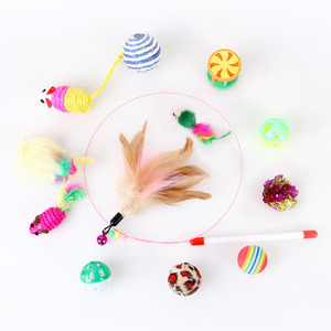 Image 3 - Kitten Toys Variety Pack Pet Cat Toy Combination Set Cat Toy Funny Cat Stick Sisal Mouse Bell Ball Cat Supplies 20/21 Piece Set