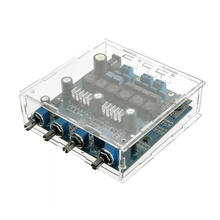 Tpa3116 2.1 50Wx2+100W Bluetooth Csr4.0 Class D Power Amplifier With Acrylic Case(China)