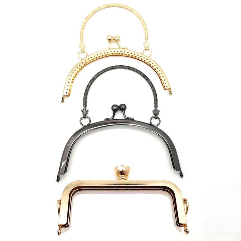 Arch Metal Purse Frame Handle for Clutch Bag Handbag Accessories Making Kiss Clasp Lock for Bag DIY Craft 14.8cm Clasp Lock