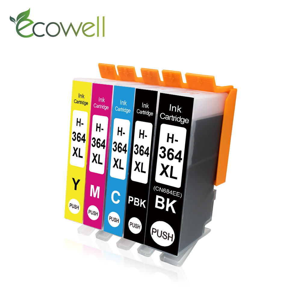 Ecowell Ink Cartridges replace for <font><b>HP</b></font> 364 XL Deskjet 3522 3070a 3520 Photosmart 5520 5510 5522 7510 6510 <font><b>6520</b></font> 7510 printer hp364 image
