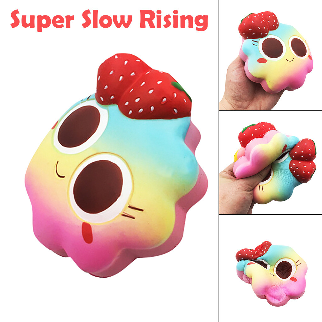 Cartoon Strawberry Cake Super Slow Rising Cream Scented Decompression Toy Cure Gifts Kids Toys Toys For Children Squishy Toys