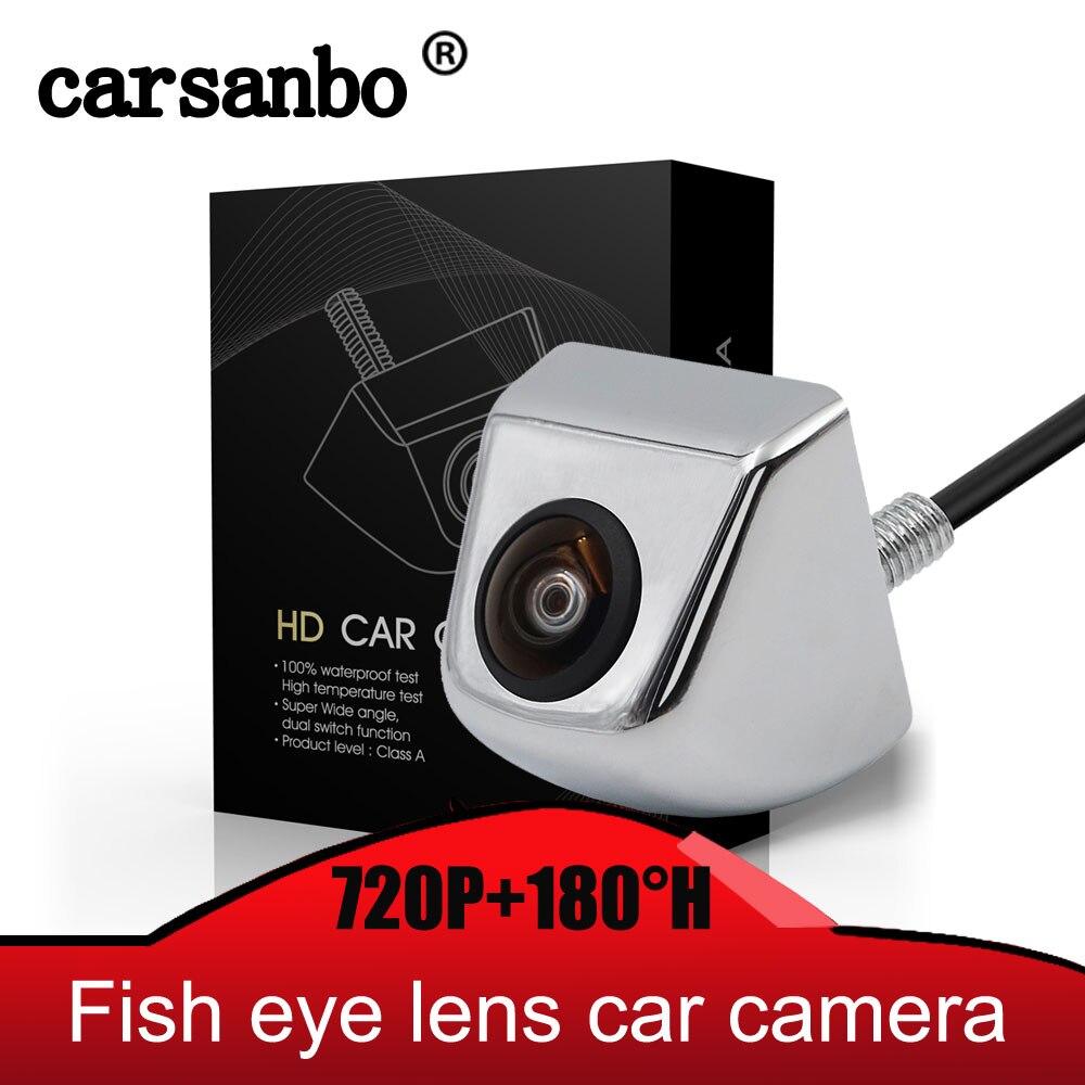 Carsanbo Fish Eye Lens Starlight Night Vision Vehicle Rear Front View Camera Reverse Camera Hd 720P Vision With 180H Wide Angle