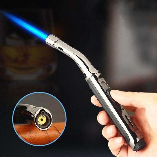 Super Long Kitchen Cooking Torch Lighter Metal Gas Lighter 1300C Cigar Cigarette Lighters Smoking Accessories Gadgets for Men 1