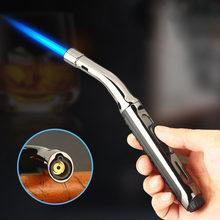 Super Long Kitchen Cooking Torch Lighter Metal Gas Lighter 1300C Cigar Cigarette Lighters Smoking Accessories Gadgets for Men