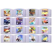 """64 קצת משחק מירוץ משחקי וידאו משחק מחסנית קונסולת כרטיס אנגלית שפה בארה""""ב גרסה עבור Nintendo"""