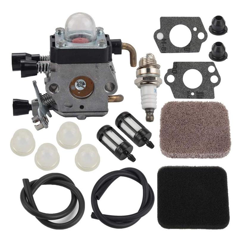 TOP FS85 FS80 Carburetor For Stihl FS75 FS80R FS85 FS85R FS85T FS85RX String Trimmer Weedeater C1Q-S97 Carb W/Fuel Repower Kit A