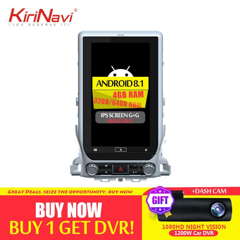 """KiriNavi 14.0 """"縦画面テスラスタイルカーラジオの Android 8.1 トヨタランドクルーザー LC200 車の Dvd マルチメディアプレーヤー GPS"""