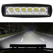 1Pc 18 W Drl Led Spot Flutlicht Arbeitsscheinwerfer 6000 K Led Werklampen 4WD Ute Suv Lkw