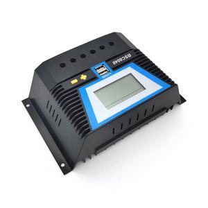 Image 2 - 20A 30A 60A 80A PWM שמש בקר 12V 24V 36V 48V תאורה אחורית LCD ליתיום סוללה רגולטור של אור הכפול זמן שליטת USB