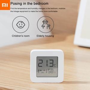 Image 4 - 2020New バージョン xiaomi mijia bluetooth 温度計 2 ワイヤレススマート電気デジタル湿度計温度計湿度センサーホーム