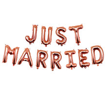LQDT 11 pièces/ensemble 16 pouces juste marié feuille ballons décoration de mariage or Rose ballons nuptiale douche décor fête fournitures