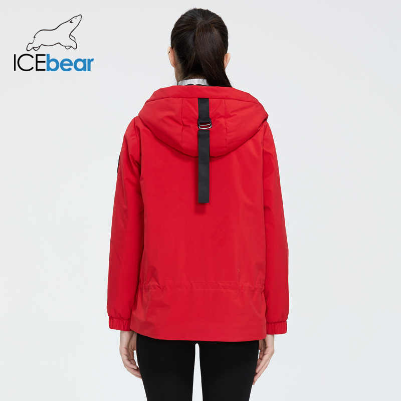 ICEbear 2020 여성 자켓 후드 세련된 캐주얼 여성 자켓 여성 봄 의류 브랜드 의류 GWC2023D