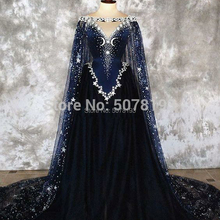 Dress Tulle Off-The-Shoulder V-Neck Sleeveless Floor-Length Beading A-Line Cloak Ceremony