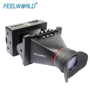 Image 4 - FEELWORLD S350 3,5 zoll EVF 3G SDI HDMI Elektronische Sucher 800x480 LCD Display Lupe Lupe für DSLR Kamera
