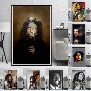 Bob Marley Singer Canvas Poster and Cuadros Printed on Canvas 1