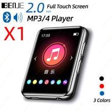 BENJIE X1 ekran dotykowy Bluetooth MP3 przenośny odtwarzacz Audio muzyka odtwarzacz wideo z wbudowany głośnik fm radio z nagrywaniem E-Book