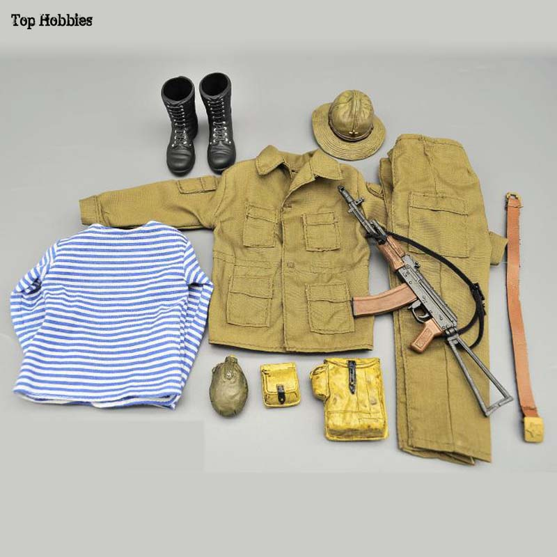1/6 Scale Special Forces Clothes Uniform Suit With AK74/AK47 For The Soviet Union, Russian War In Afghanistan, 12 Inch Figurine