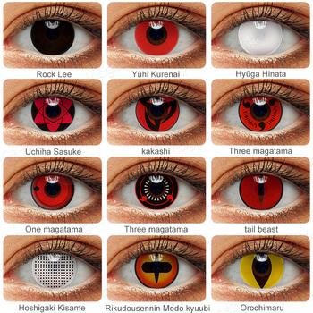 2 sztuk para Cosplay Anime oczy soczewki Sharingan soczewki kontaktowe dla oczu Uchiha Sasuke Hatake Kakashi kolorowe soczewki dla oczu tanie i dobre opinie Magister CN (pochodzenie) 14 0~14 5 Dwa kawałki 0 06-0 15 mm PHEMA Piękna źrenica Cosplay Anime Eyes Contact Lenses Sharingan