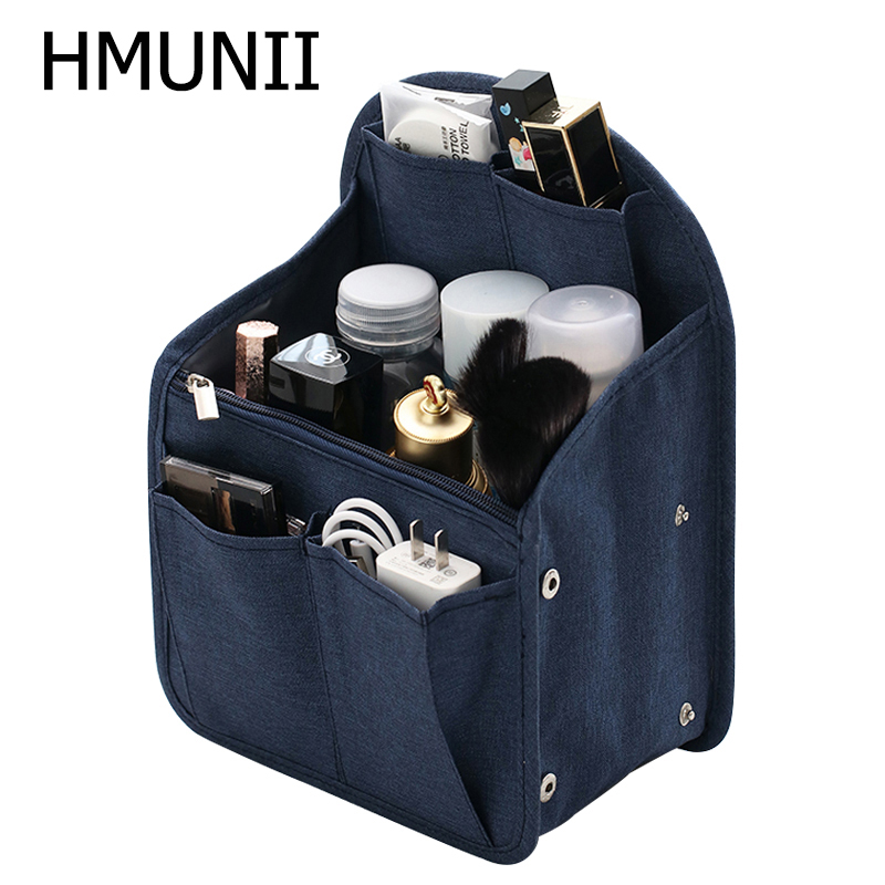 HMUNII Backpack Organizer Insert Travel Purse Multi-Pocket Bag In Bag Organizer Adjustable Storage Travel Bag For Men & Women