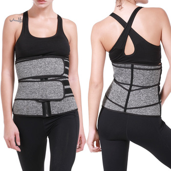 1Pc Gray/Black Slimming Belt Waist Trainer Corset For Women Sweat Sport Girdles Shaper Lumbar Trimmer Straps Women Shapewear