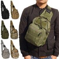 Molle táctico militar bolsa de deporte al aire libre ejército Airsoft hombro bolsa de viaje de Trekking pesca senderismo caza Camping mochila