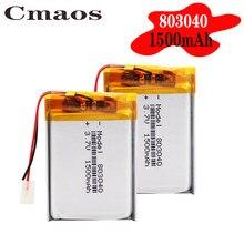 Bateria recarregável do polímero do li-po do lítio das pilhas do lipo do li-íon do tamanho 803040 3.7v 1500mah para brinquedos do tacógrafo do orador pda de bluetooth